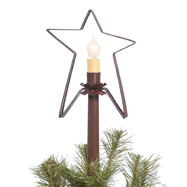 Christmas Tree Star With Candle Light Handcrafted