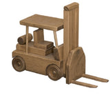 SKID TRACTOR TRAILER TRUCK & FORK LIFT SET ~ Amish Handmade Wood Toy