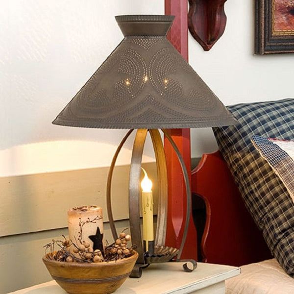 Betsy Ross Colonial Table Lamp With Pierced Barn Star