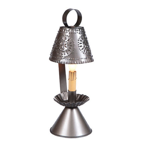 Colonial Pierced Tin Accent Light in Smokey Black Finish