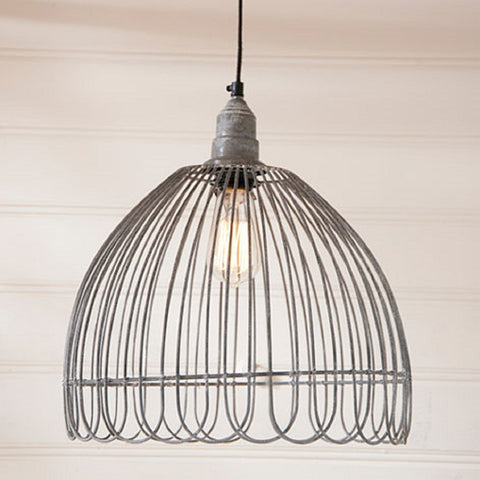 PETAL WIRE PENDANT LAMP in Weathered Zinc Finish