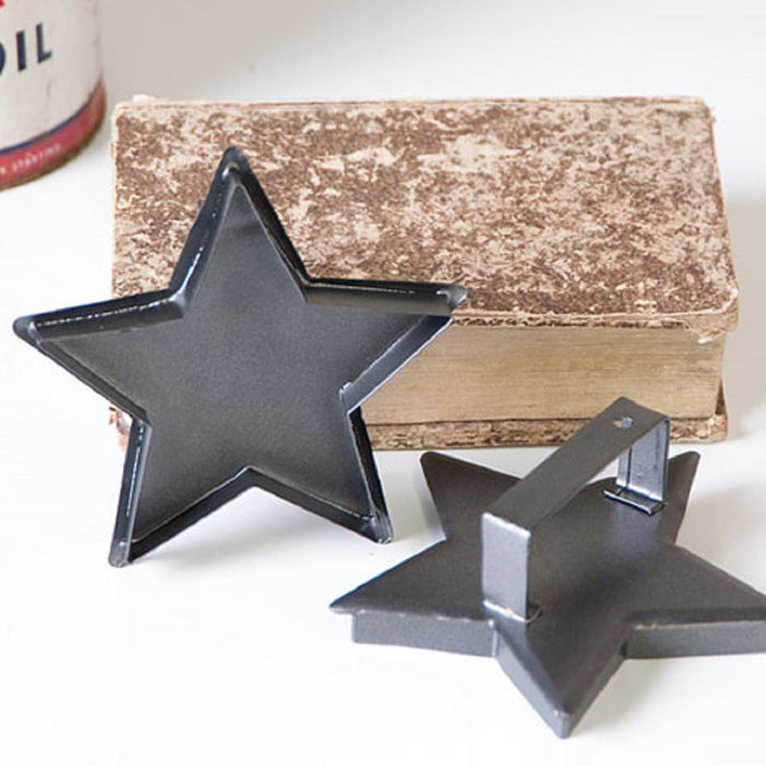 12 STAR COOKIE CUTTERS ~ Country Decor Ornament Set in Smokey Black