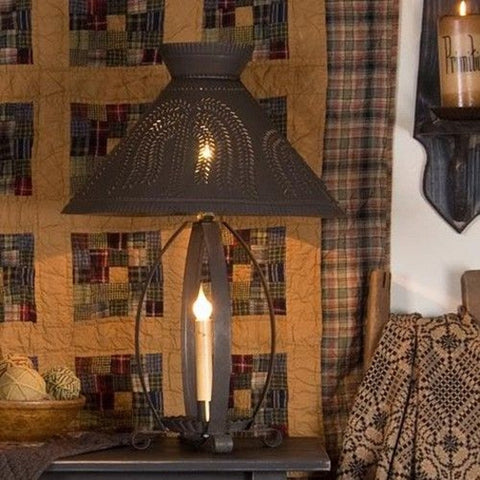BETSY ROSS COLONIAL TABLE LAMP with Pierced Willow Tree Shade in ...