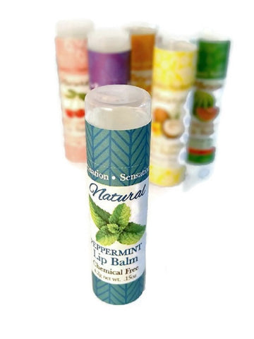 SENSATION LIP BALM - All Natural and Handmade Fresh WINTERGREEN 4 SPF