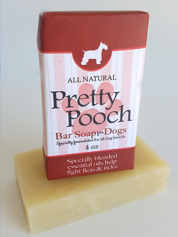PRETTY POOCH BAR SOAP ~ Specially Formulated for Dogs with 3 Essential Oils