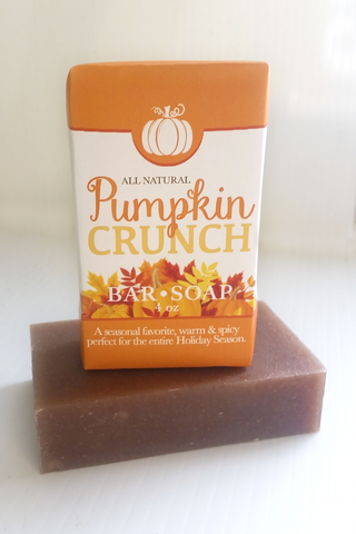 Pumpkin Crunch Soap ~ All Natural Handmade 3.5oz