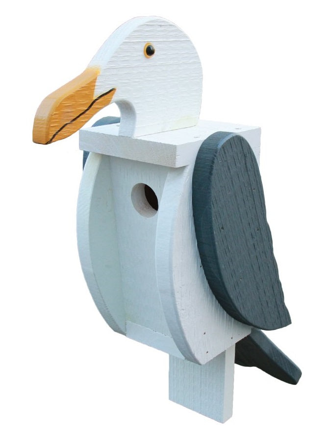 SEAGULL BIRDHOUSE - Large Amish Handmade Bird House