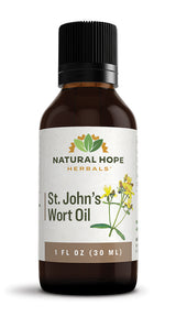 ST. JOHN'S WORT OIL - Organic Herbal Inflammation and Skin Irritations Relief