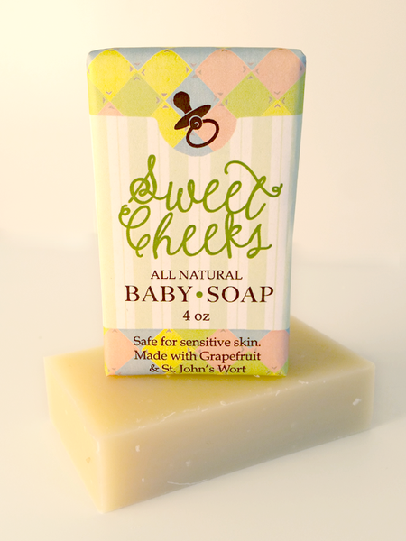 Sweet Cheeks Baby Soap ~ All Natural Handmade 3.5oz