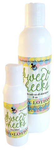 SWEET CHEEKS BABY LOTION ~ Naturally Soft & Moist Baby Skin