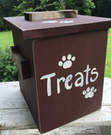 DOG TREAT STORAGE CHEST Amish Handmade Wood Snack