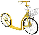 "20"" ADULT SCOOTER - Amish Foot Bike with Basket Handbrake & Racing Wheels in 12 Colors!"