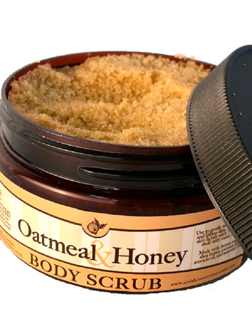 Oatmeal & Honey Body Scrub All Natural Handmade with essential Oils
