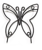 Large Wrought Iron Butterfly Garden Stake Amish Handmade Lawn Decor