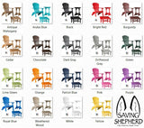 3pc OUTDOOR PATIO SET - 4 Season Folding Chair, Ottoman & Candy Table in 19 Colors