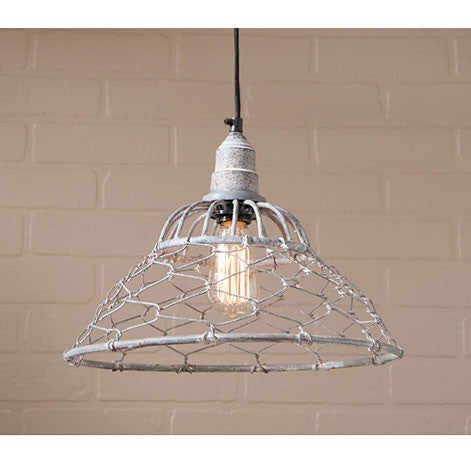 Loft Cage Pendant Hanging Light in Weathered Zinc Finish