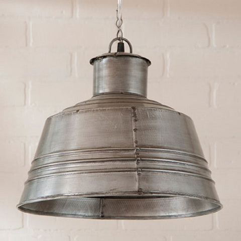 Tin Canning Table Pendant Ceiling Light Antique Polish