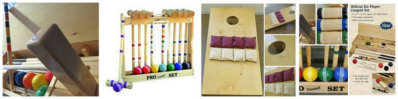 Hand Turned Croquet Sets