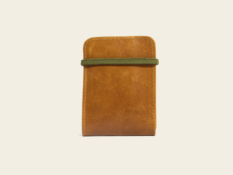 Slim Wallet - Brown/Green