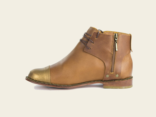 Womens Uma Toffee Boots by Bestias