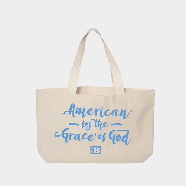 AMERICAN BY THE GRACE OF GOD TOTE