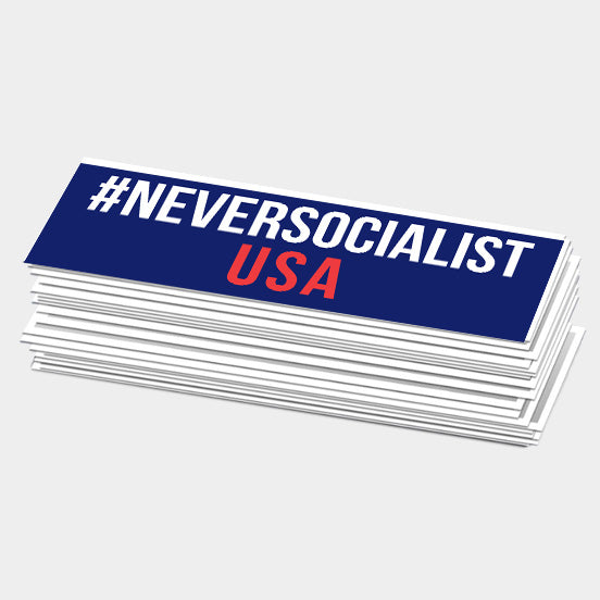 #NeverSocialist Bumper Sticker - Set of 2