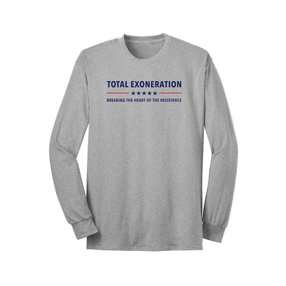 Total Exoneration Long Sleeve T-Shirt - Grey
