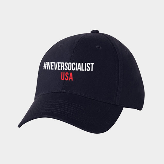 #NeverSocialist Hat - Navy