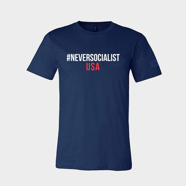 #NeverSocialist USA T-Shirt