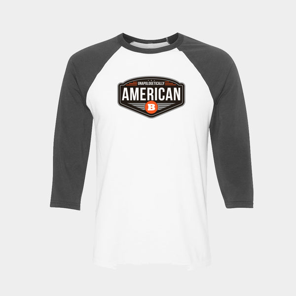 Unapologetically American Baseball Tee
