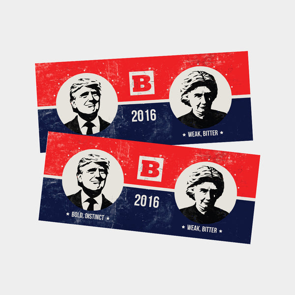 Commemorative Election Stickers - Set of 2