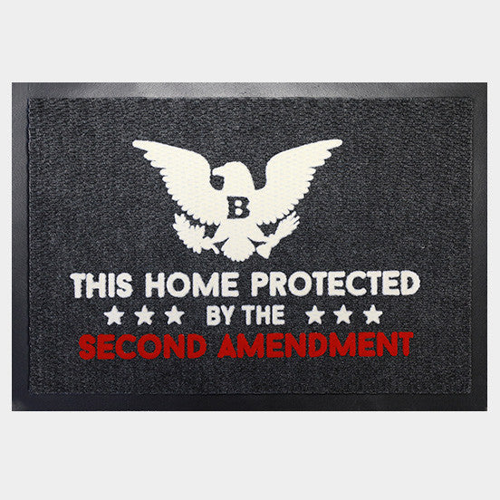 Protected By 2nd Amendment Door Mat
