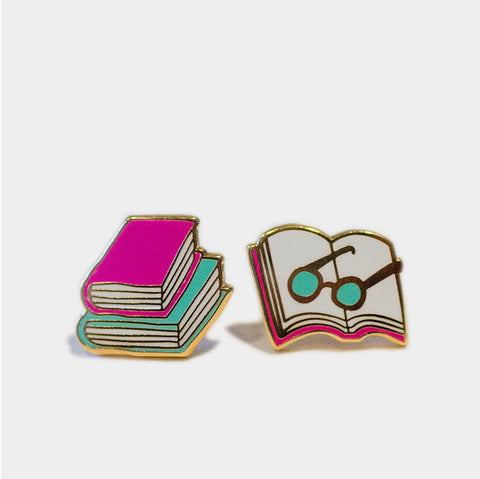 The Library Store Books & Glasses Earrings