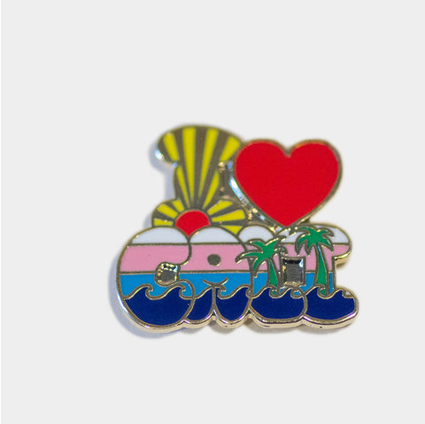 The Library Store I Heart Cali Lapel Pin