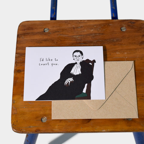 The Library Store I'd Like to Court You, Ruth Bader Ginsburg Card