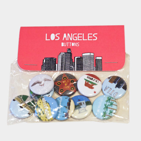 The Library Store LA Button Set