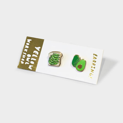 The Library Store Avo Toast Earrings