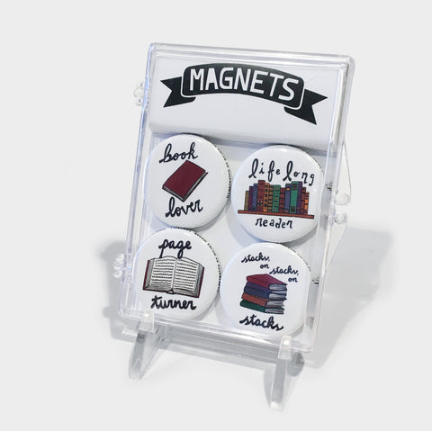 The Library Store Book Reading Magnet Set