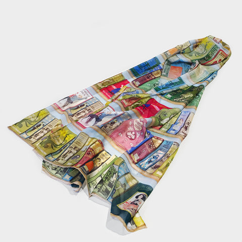 The Library Store Booklovers Silk Scarf