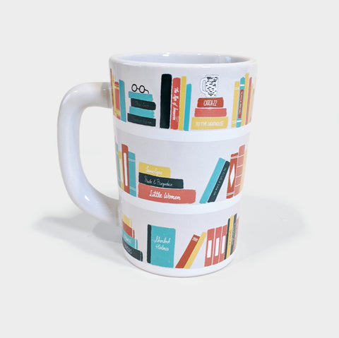 The Library Store Bookshelf Mug