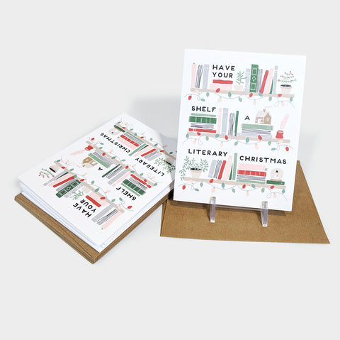 The Library Store Boxed Literary Christmas Holiday Card