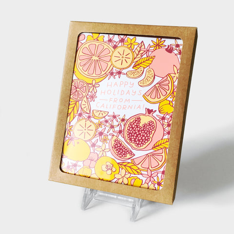 The Library Store Cali Floral Boxed Cards