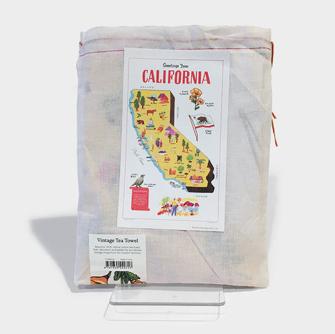 The Library Store California Map Tea Towel