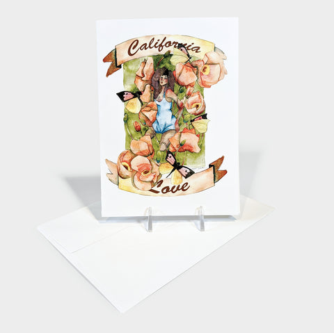 The Library Store California Love Greeting Card
