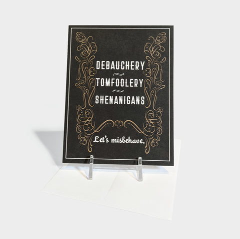The Library Store Debauchery Tomfoolery Shenanigans Fun & Flirty Card