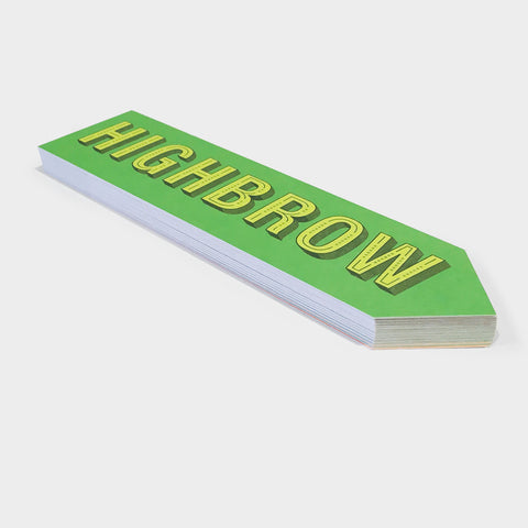 The Library Store High/Low Brow Bookmark Pad