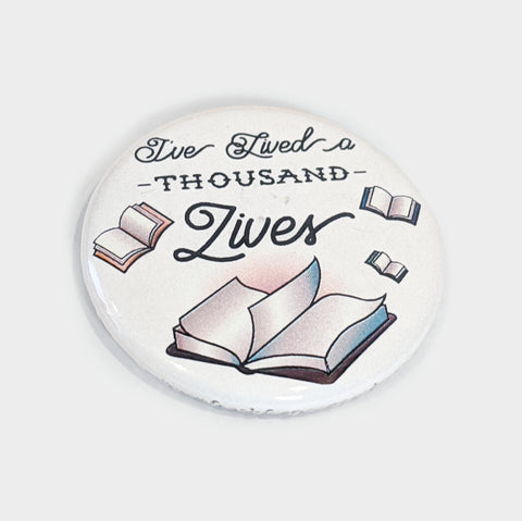 The Library Store I've Lived a Thousand Lives Magnet