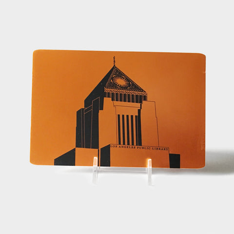 The Library Store LAPL Aluminum Postcard - Copper