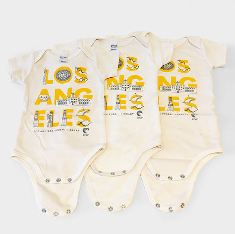 The Library Store LAPL Custom Maptote Onesie
