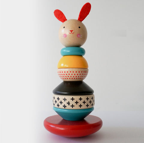 The Library Store Modern Bunny Stacking Toy